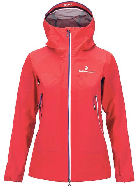Peak Performance W's Black Light Core Jacket Chinese Red